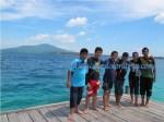 Berpose di Pulau Tengah Karimunjawa